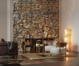 ... 10 Fototapeten Natursteinwand für Ihr Wohnzimmer | wohnbeispiele.com